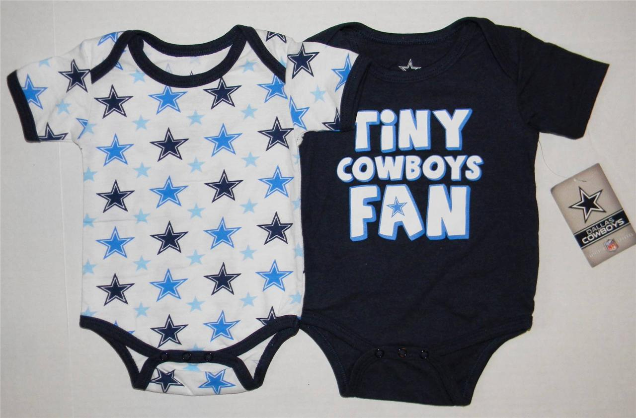 Dallas Cowboys Infants Baby Boy 2 Pack Tiny Fan & Star