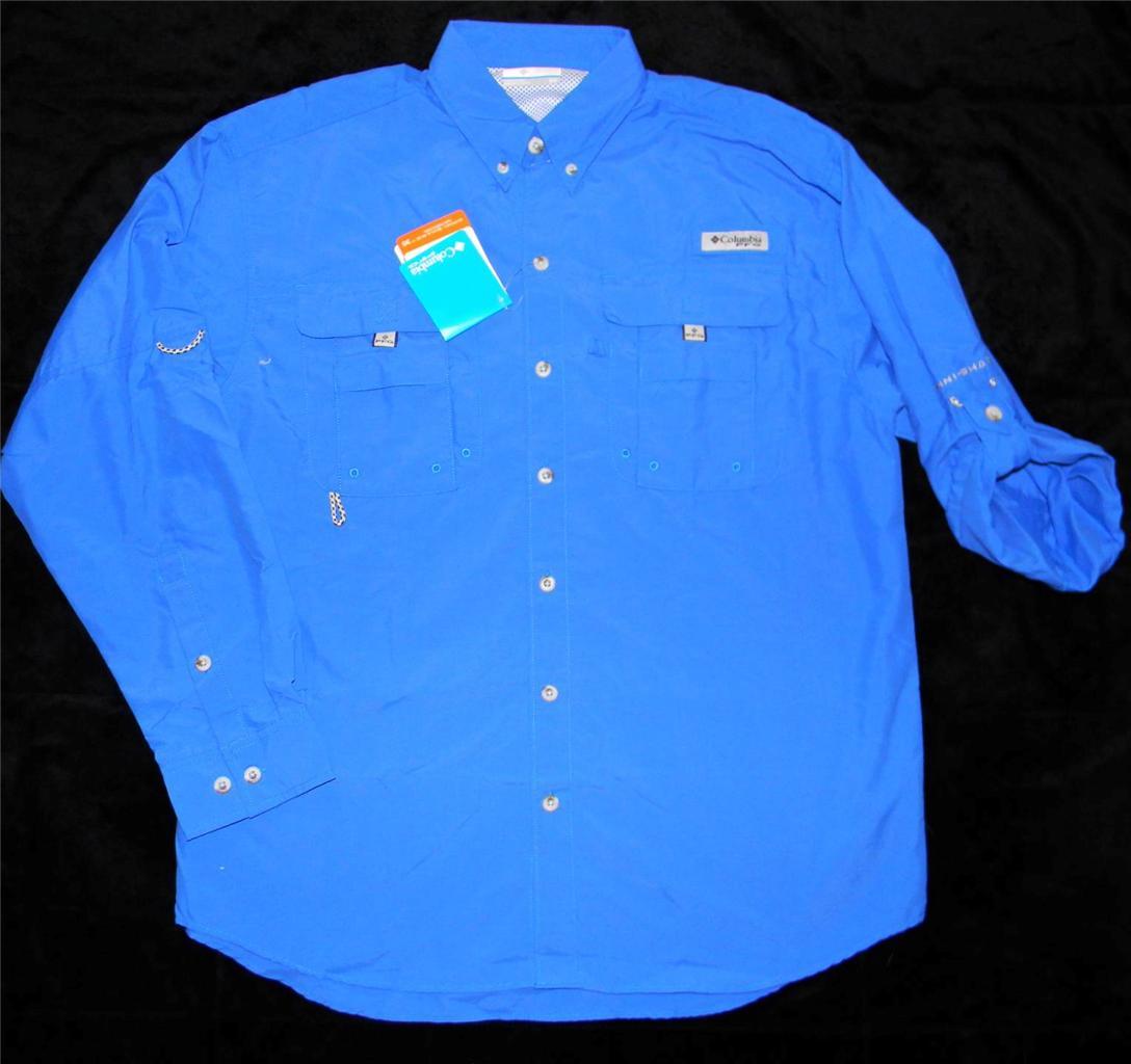 Columbia men 39 s pfg bahama ii long sleeve fishing shirt for Men s columbia fishing shirts