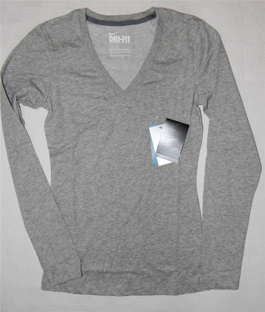 Nike women 39 s dri fit performance long sleeve tee shirt for Custom dri fit t shirts