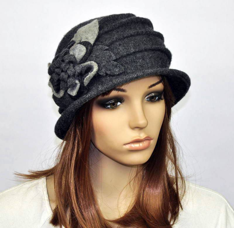 M92 Cute Flowers Winter Warm Wool Acrylic Women's Hat ...