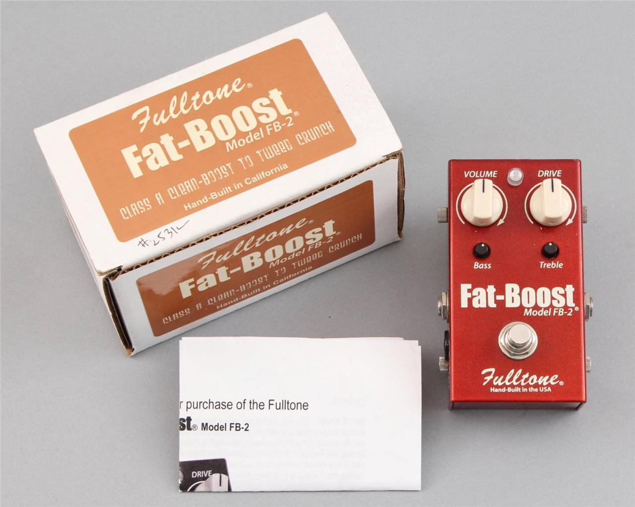 Fulltone Fat Boost Fb 2 Guitar Effects Pedal With Box Pd 7598