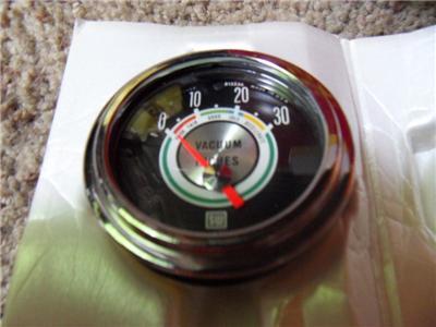 Vintage Stewart Warner Greenline Vacuum Gauge