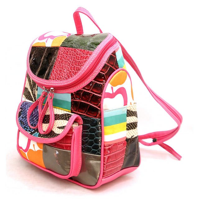 Designer-Inspired-Multi-Print-Faux-Leather-Handbag-Backpack-Purse