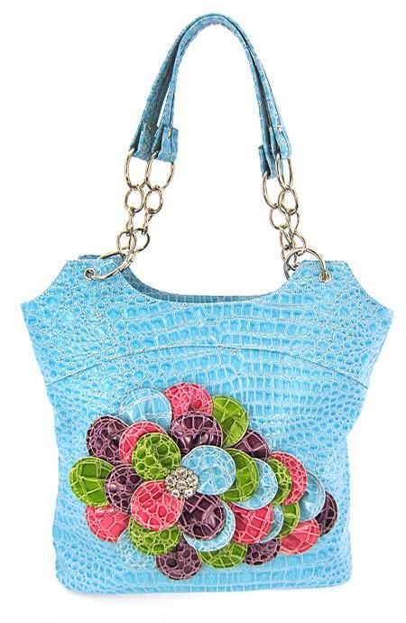 3D-Flowers-Croc-Print-Hobo-Handbag