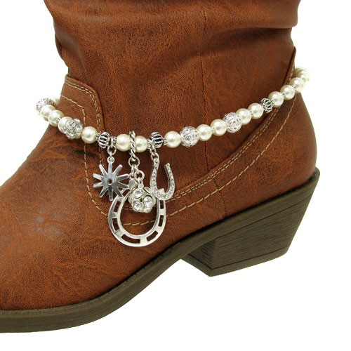 horseshoe charms western cowboy boot jewelry