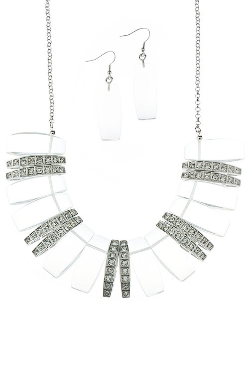 Acrylic-and-Rhinestone-Fan-Crescent-Bib-Necklace-Set