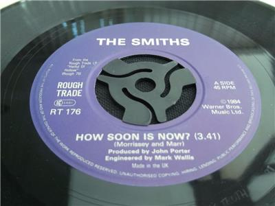 the smiths how soon is now 1985 uk press 7 vinyl record. Black Bedroom Furniture Sets. Home Design Ideas
