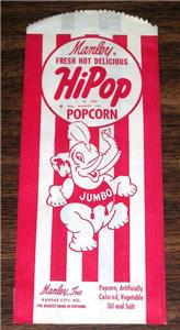1946 Circus Popcorn Bag with Jumbo Elephant Logo