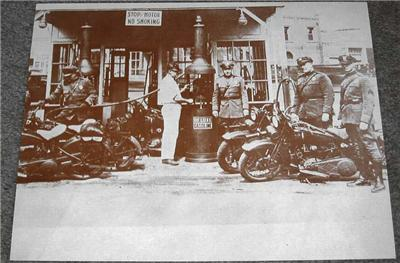 1930s Motorcycle Cops 14x11 In Poster Print