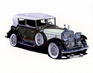 1931 Cadillac V16 Phaeton 10x8 In Art Print