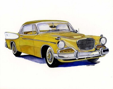 1957 Studebaker 10x8 In Art Print