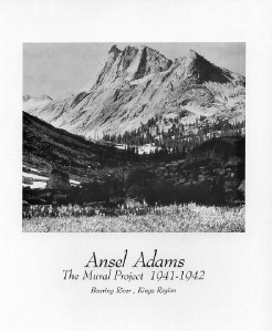 Ansel adams photo art print boaring river kings region for Ansel adams mural project 1941 to 1942