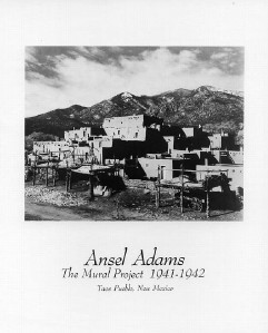 Ansel adams photo art print taos pueblo nm 8x10 in ebay for Ansel adams the mural project prints