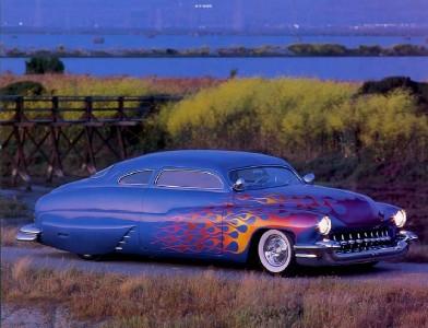 1949 custom mercury hot rod 10x8 photo print
