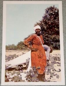 100 PERCENT COTTON African American Art 9x13 In Print