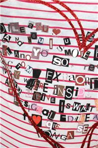 Detalles de desigual luisana rep tshirt top sz l uk 14 pink white