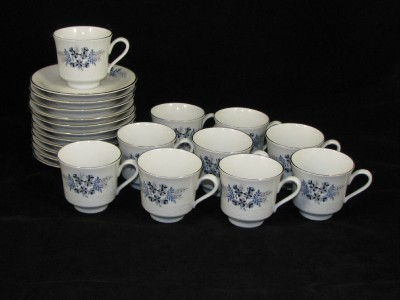 10 tognana italy porcellane star flower tea cups saucer