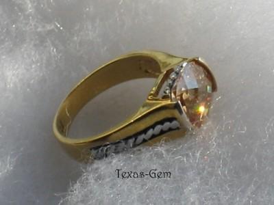 premier designs elite ring twotone gold silver cz sz 9 ebay