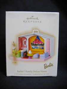 Hallmark Barbie Family Deluxe House 2007 Ornament 2 pc.