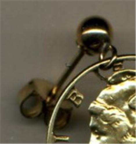 Greek-2-Drachma-Owl-Coin-Earrings-Gold-Silver