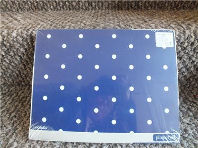 Pimpernel Portmeirion Polka Dot Placemats Blue Heat