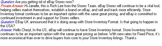 Ebay stores answer