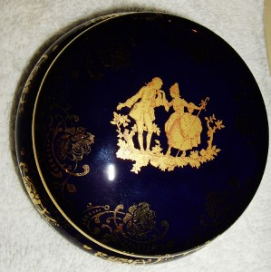 limoges france veritable porcelaine d 39 art round box ebay. Black Bedroom Furniture Sets. Home Design Ideas