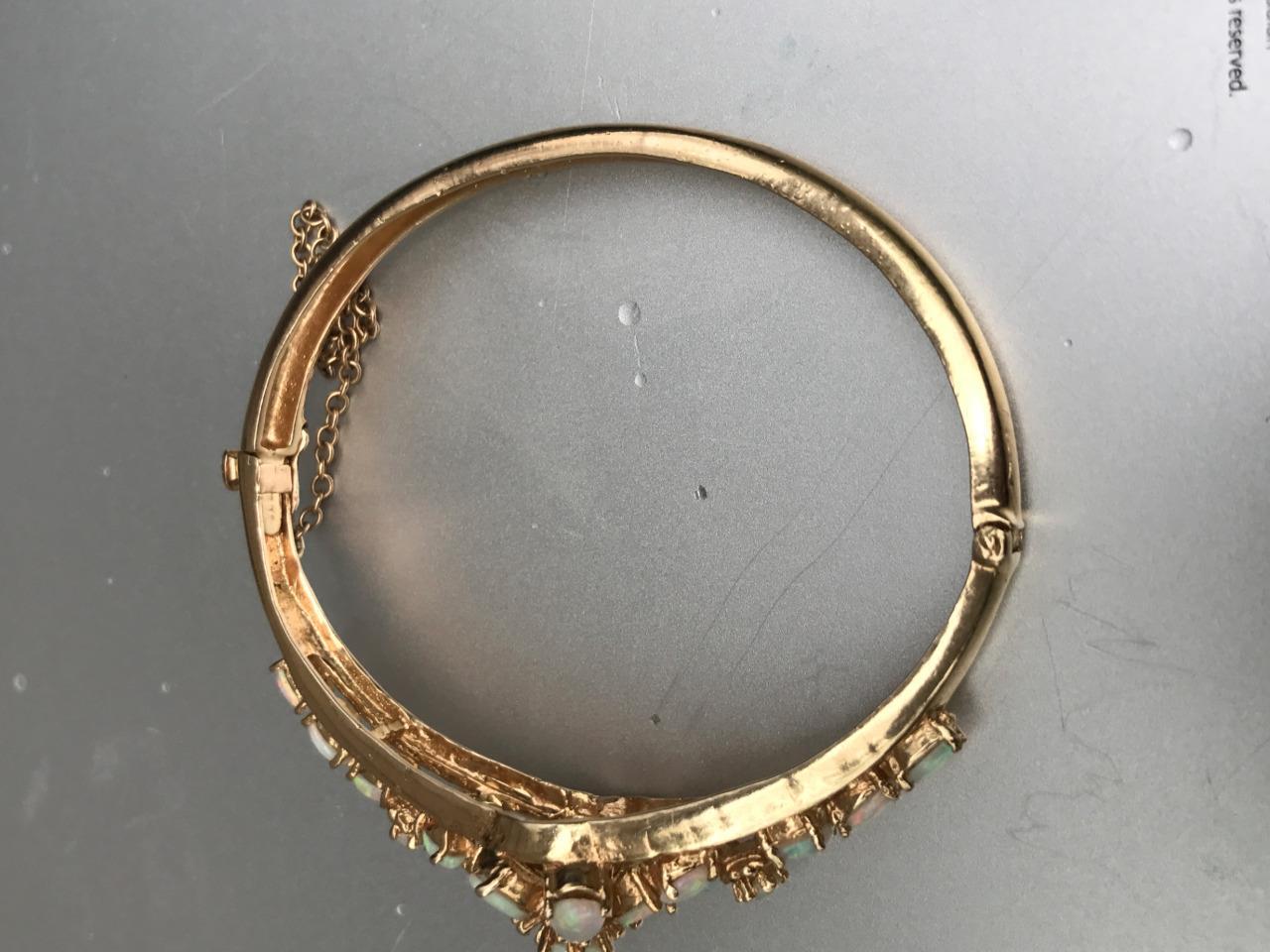 Vintage Gorgeous! Estate 14k Yellow Gold Opal Floral. Skull Medallion. Amazing Bracelet. White Rings. Emerald Infinity Band. October Necklace. Hawk Watches. Silver Bangle Cuff Bracelet. Swarovski Beads