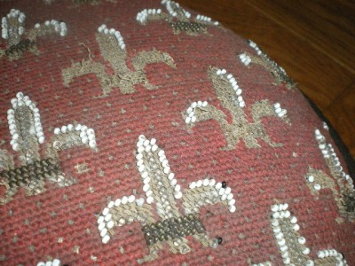images of antique bead tapistry victorian fluer de lis gout stool ebay wallpaper
