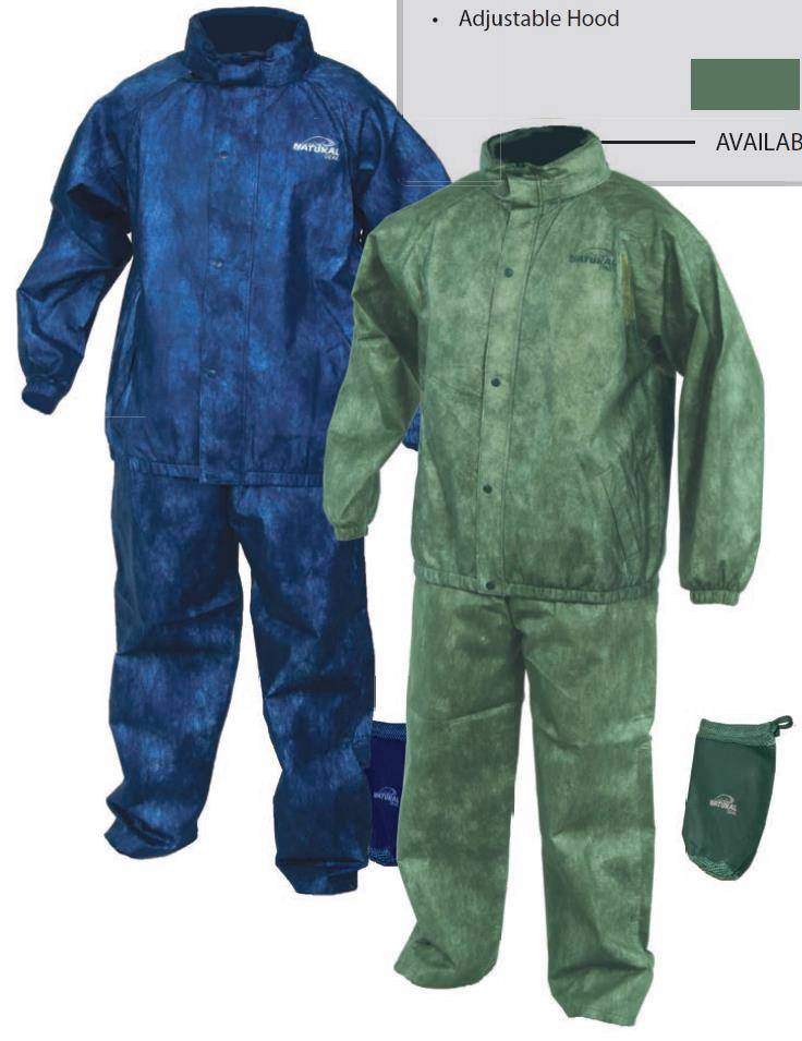 New natural gear ultra light packable rain suit jacket and for Lightweight fishing pants