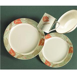VHTF 16 pc CORELLE TEXTURED FLORAL DINNERWARE SET *NEW