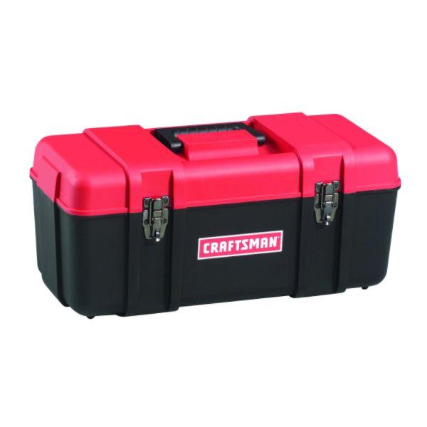 "Craftsman Plastic Hand Tool Box Red Black 20"" or 17"" 