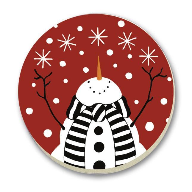 Holiday-SNOWMAN-ON-RED-Choose-15-or-8x12-COUNTER-SAVER-13-034-LAZY-SUSAN-or-TRIVET