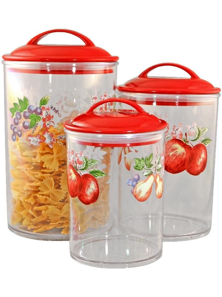 3 corelle clear acrylic canister set see thru storage jars