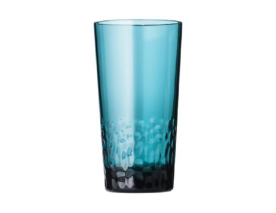 8 pc teal blue textured acrylic drinkware glass sets for Glass or acrylic