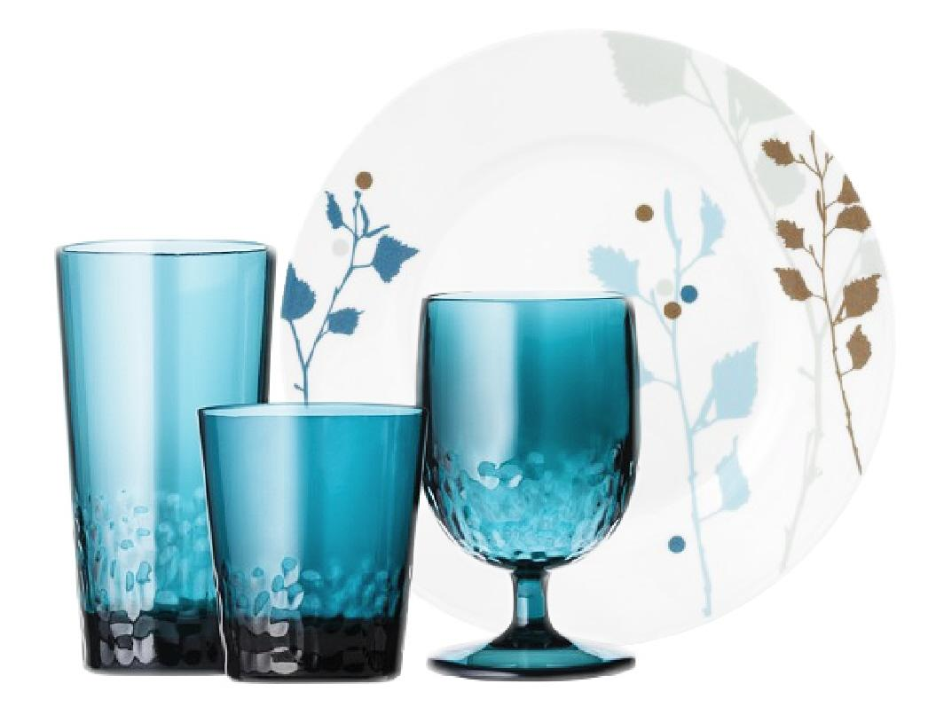 Teal Drinking Glasses