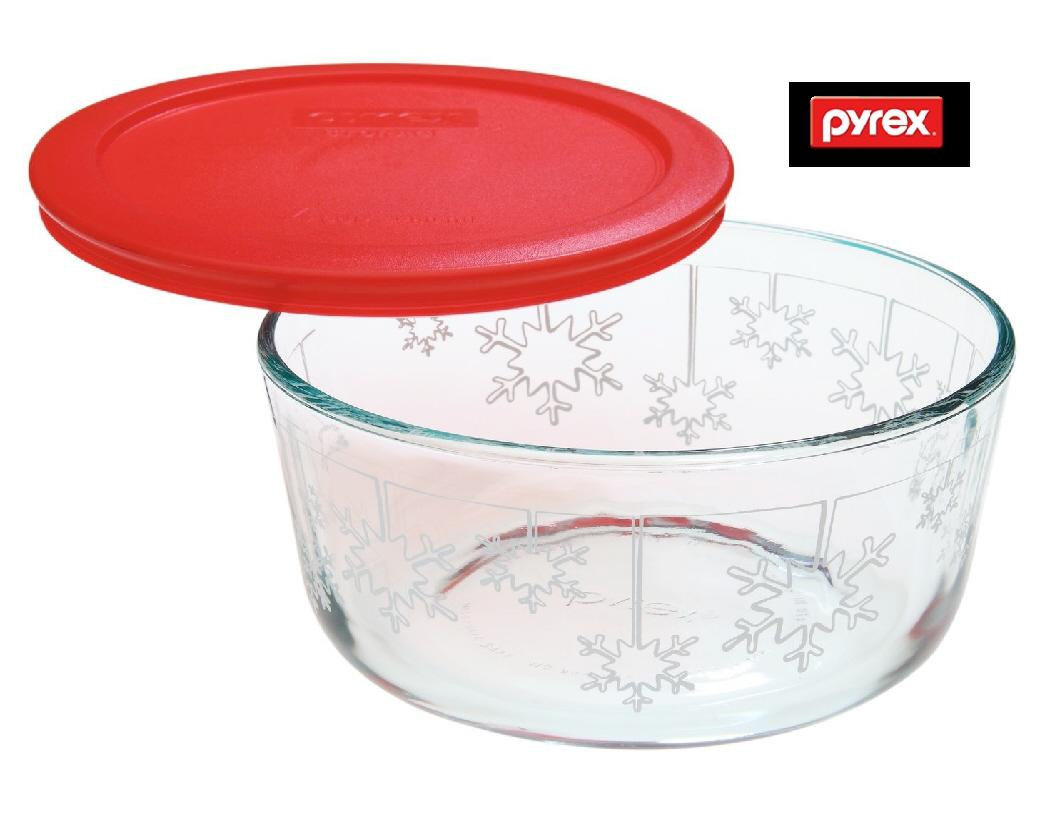 Exceptionnel PYREX Holiday 1 Qt SNOWMAN GREEN TREE Or
