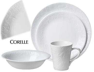 16 pc CORELLE Boutique BELLA FAENZA Dinnerware Set OLD