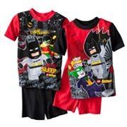 Marvel-Batman-Robin-Lego-Minifig-Pajamas-Set-Shorts-Shirt-2-Piece-5-6-8-10-NEW