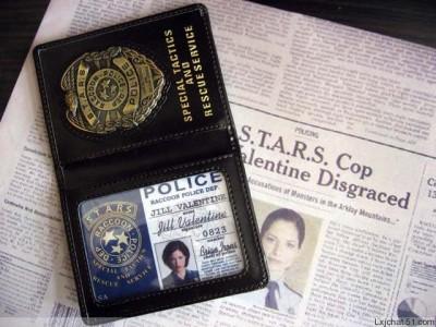 Resident Evil STARS ID Badge Metal Emblem Blank ID + GIFT ID cards