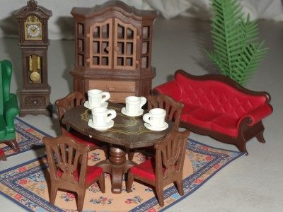 Playmobil 5320 victorian mansiondining room furniture for Playmobil dining room 5335