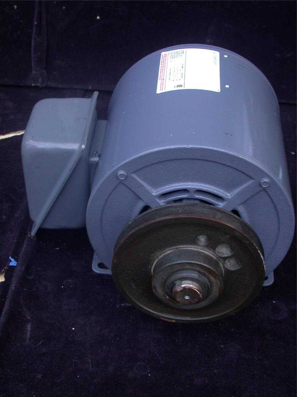 century 3hp 1750rpm motor 200 230 460 volt 3 phase
