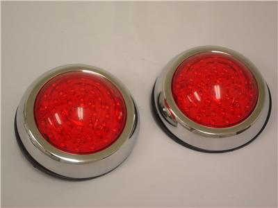 flush mount led round street rod tail lights ford chevy ebay. Black Bedroom Furniture Sets. Home Design Ideas
