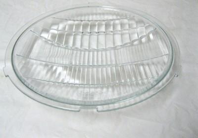 Car Pickup Truck Glass Headlight Lenses SS Headlight Rims Pair