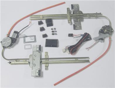 Two 2 door street hot rat rod flat glass power window kit for 2 door power window switch kit