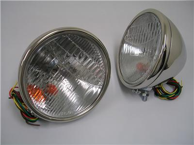 1928 1929 Ford Model A Stainless Headlights Head Lamps w