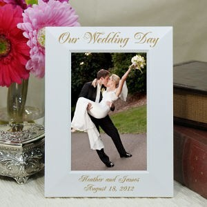 Engraved Picture Frames Wedding Favors : ... Wedding Picture Frame Our Wedding Wedding Photo Frame 2 sizes