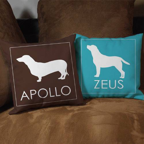 Personalized Dog Breed Throw Pillow Dog Lover Couch Pillow Name Silhouette eBay