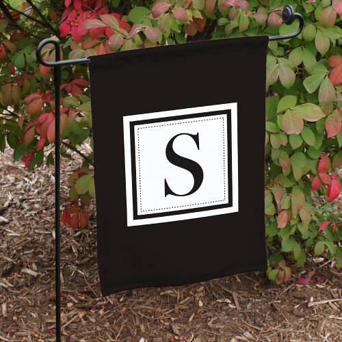 Personalized Family Monogram Garden Flag Last Name Initial