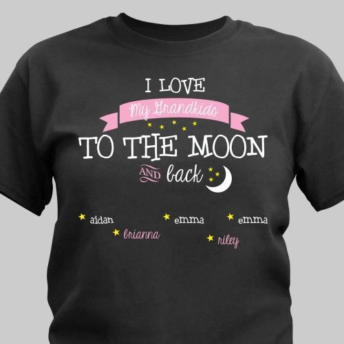 Personalized T Shirt For Mom Grandma I Love My Grandkids